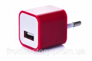 Блок питания 5Вт/1А (USB, разные цвета) 5:Красный