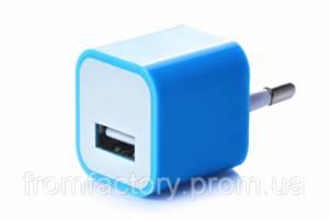Блок питания 5Вт/1А (USB, разные цвета) 5:Синий