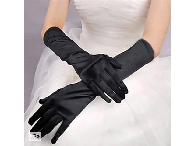 купить бу Длинные перчатки, атласные, сплошные, 40 см (до локтя) в Харькове