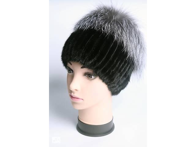 шапка кубанка женская вязаная из меха норки головные уборы