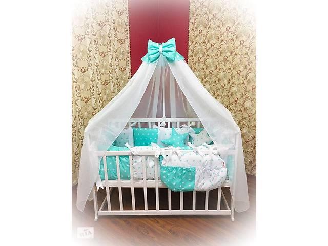 продам Детское постельное белье в кроватку ТМ Bonna Elite Бирюзовое со звездами бу в Одессе