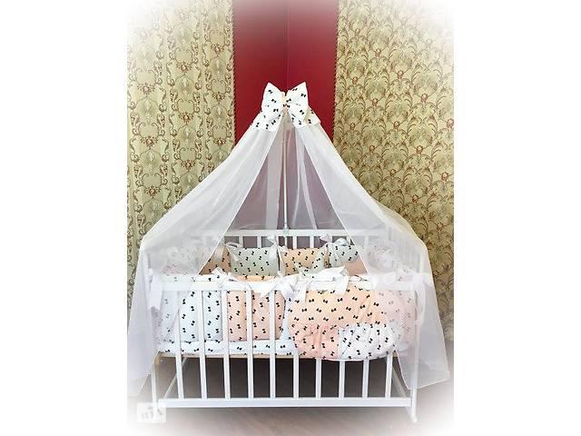бу Детское постельное белье в кроватку ТМ Bonna Elite Бело-персиковое в бантик в Одессе