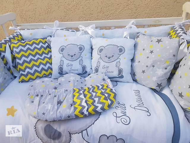 купить бу Детское постельное бельё в кроватку ТМ Bonna Принт (без балдахина или с балдахином) в Одессе