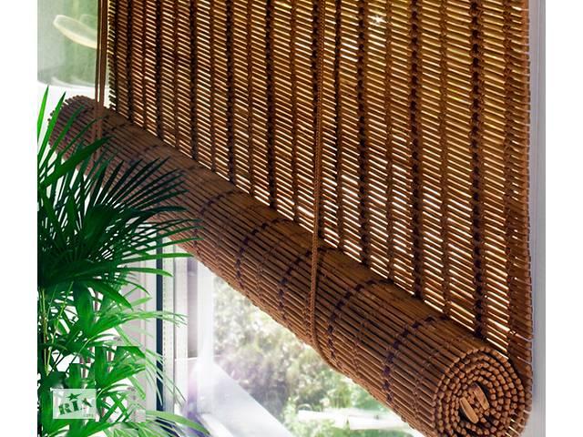 Натуральные бамбуковые роллеты (рулонные шторы) - «под Ваш размер».- объявление о продаже  в Киеве