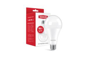 Светодиодная лампа Maxus 1-LED-784 18W А80 4100K 220V E27 Код.59632