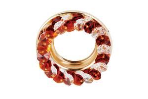 Точковий світильник золото, чайний і прозорий кристал CT710-TEA GD