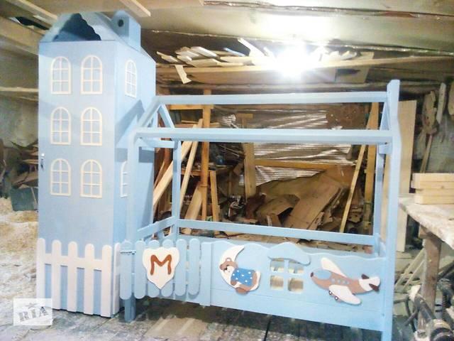 купить бу АКЦІЯ ! новинка кровать - Домик из Смереки Карпатской для ваших деток в Киеве