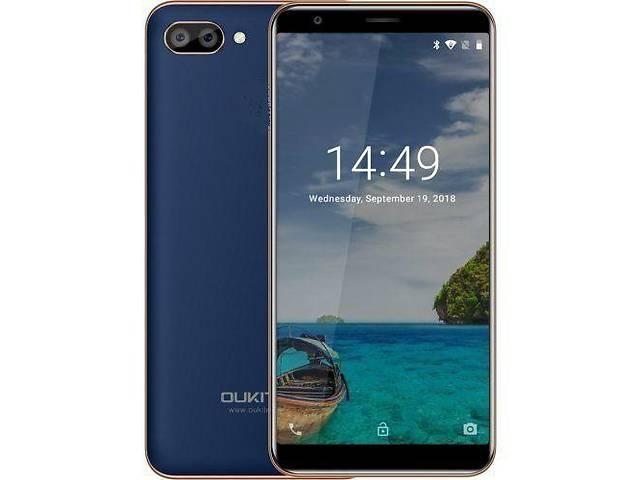 купить бу Оригінал ( не копія! ) смартфон Oukitel C11 екран 5.5 батарея 3400 маг (колір чорний, блакитний) в Кривому Розі