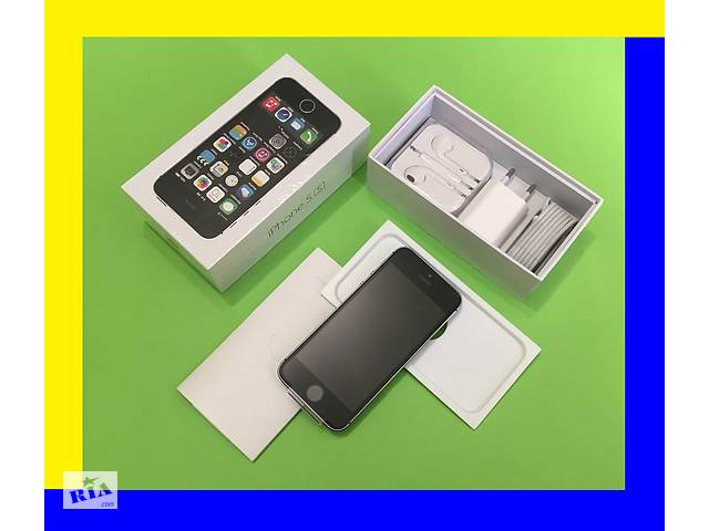 бу IPhone 5s 16Gb space gray  [NEW в заводской плёнке]оригинал 100% NEVERLOCK (без аванса (+подар. стекло айфон 5с в Хмельницком