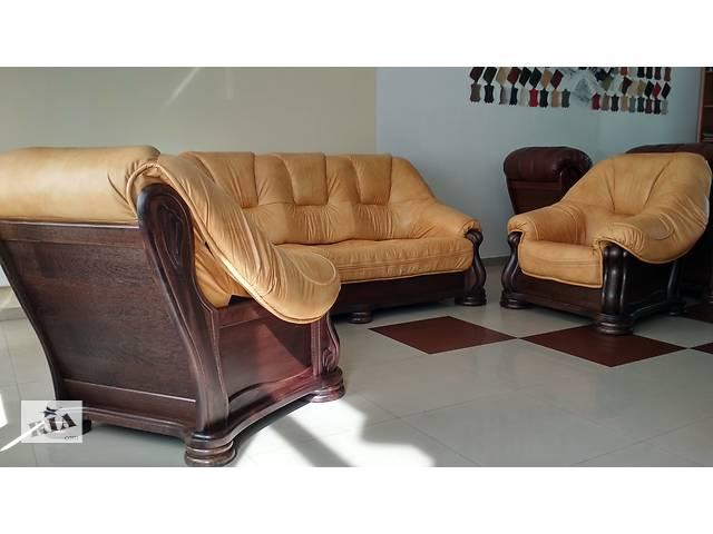 В наличии диван раскладной и два кресла Сан Ремо производитель Польша натуральная кожа, Акция- объявление о продаже  в Луцке