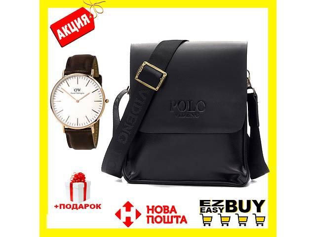 купить бу Мужская сумка через плечо POLO Videng+Часы в ПОДАРОК! Оригинал! в Харькове