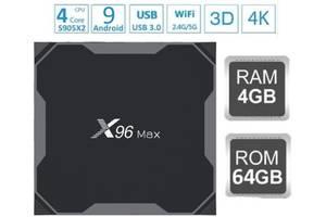 X96 MAX 4гб/64гб DDR4 Смарт ТВ приставка S905X2 Android 9 Настройка + Гарантия