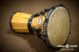 """Джембе барабан 10"""" (djembe) - деревьев'каменный + натуральная кожа с настройкой ключом. НОВЫЙ!"""