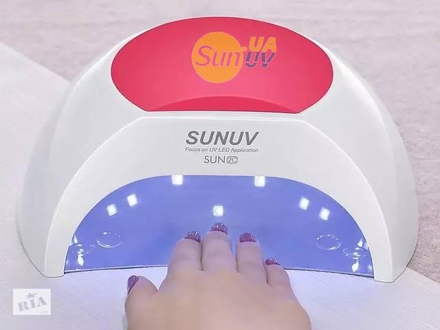 Оригінал SUNUV SUN2 Sun2c 48W sunuv2C uv led lamp уф лед лампа 48Вт сушка манікюр педикюр нарощування нігтів гель лак