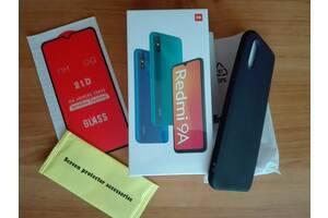 Xiaomi Redmi 9A Global + защитное стекло + бампер чехол