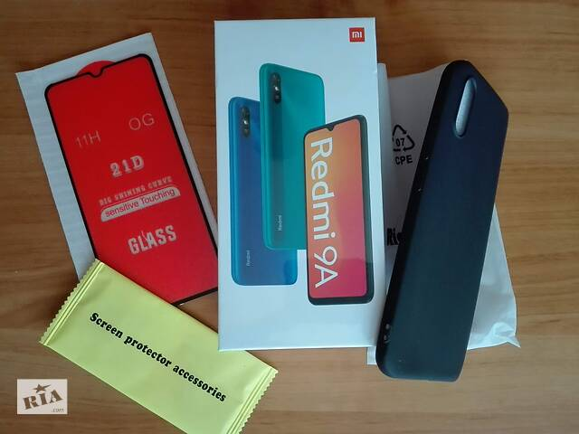 Xiaomi Redmi 9A Global + защитное стекло + бампер чехол- объявление о продаже  в Хмельницком