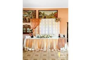 Оформлення весілля, Прикраса залу, Арка, церемонія, чохли на стільці, Флористика, Фотозоны, шампанське, Букет нареченої
