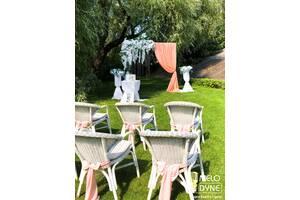 Оренда декору прикраси весільного столу, фотозона, чохли на стільці