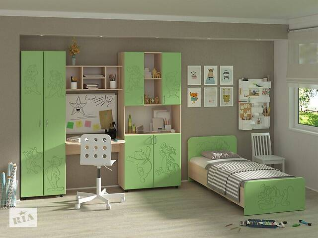 Мебель для детской комнаты Симба (МДФ). Стенка и кровать в детскую- объявление о продаже  в Киеве