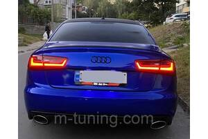 Спойлер Audi A6 C7 тюнинг сабля стиль S6 (пластик)