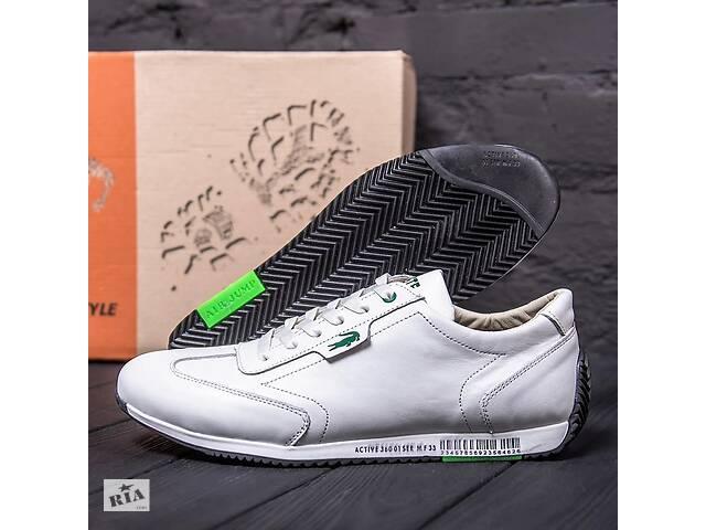 купить бу Мужские кожаные кроссовки Lacoste Lerond White в Харькове