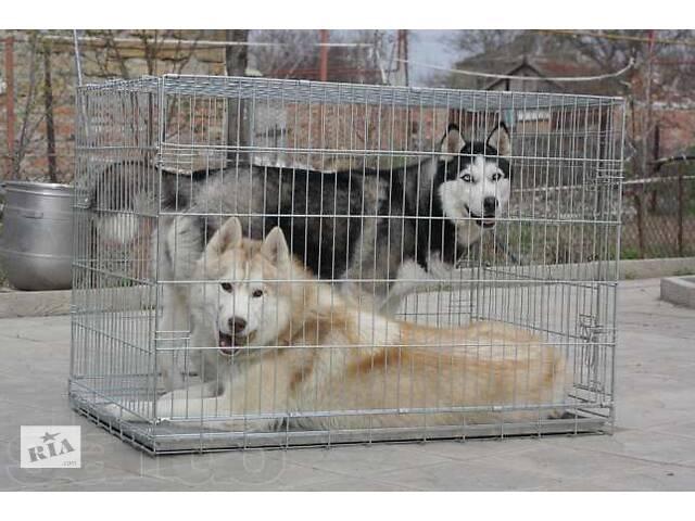 купить бу Усиленная переноска, вольер, клетка для собак №7, 118х70х80 ВОЛК-3 в Киеве