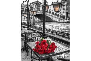 Розы под дождем - картина по номерам