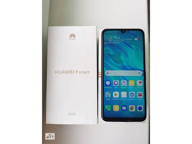 купить бу Смартфон Huawei P Smart 2019 (POT-LX1) Aura Blue dual sim в Києві