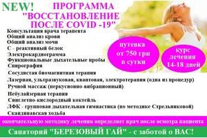 Восстановление в санатории Березовый Гай
