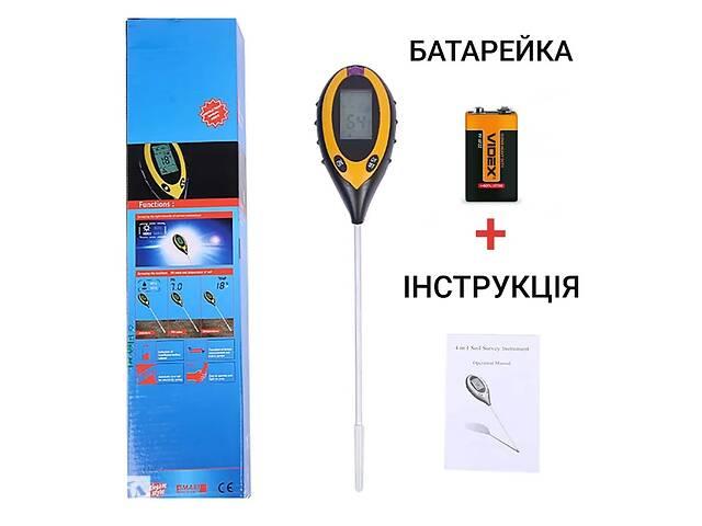 купить бу Анализатор тестер почвы грунта AMT-300 4 в 1 рн метр влагомер термометр люксметр для почвы электронный цифровой в Южном (Южный)