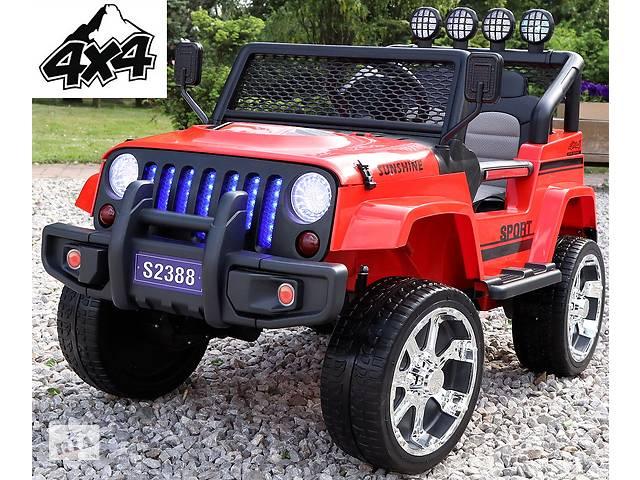 купить бу Детский электромобиль Jeep 4x4 полноприводный на резиновых колесах EVA в Львове
