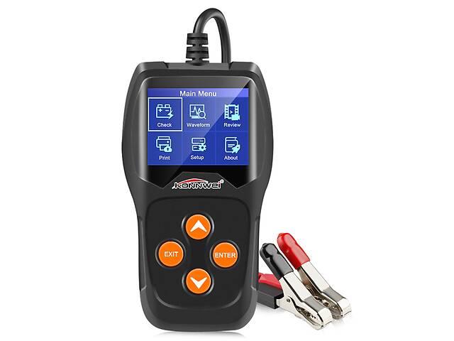 Аккумуляторный автомобильный тестер KONNWIE KW600 цветной TFT LCD диагностический XP Win7 Win8 Win10 (3657-10584a)