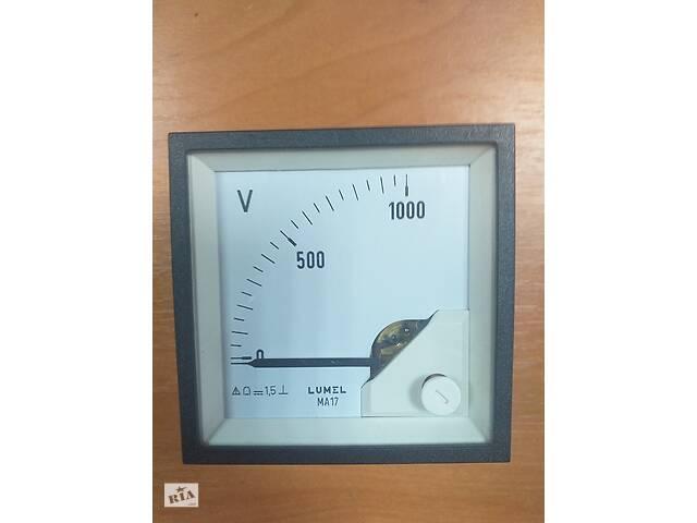 купить бу Аналоговый вольтметр MA17N A618 1kV LUMEL Польша в Дубно