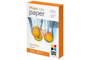 Бумага ColorWay A4, 260г, glossy, 100л, карт.уп. (PG260100A4)