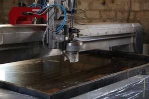 Гидроабразивная резка металла, керамики, стекла, пластмассы, резины
