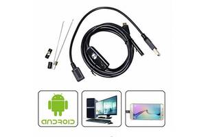Камера эндоскоп для труднодоступных мест USB microUSB 2м 7мм Kronos 5570 (gr_009918)