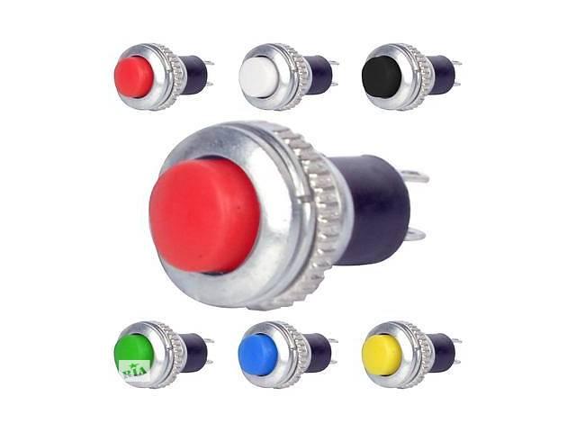 Кнопка нажимная DS-316, OFF-(ON), 0,5А, красный