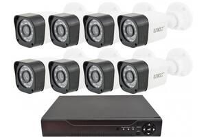 Комплект видеонаблюдения беспроводной UKC D001-8CH Full HD набор на 8 камер 5690 (gr_009996)