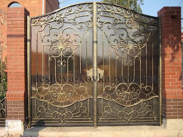 купить бу Кованые ворота с калиткой в Виннице