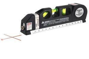 Лазерный уровень нивелир Fixit Laser Level Pro PR0 2 в 1: лазерный уровень, жидкостный уровень (mdr_0512)