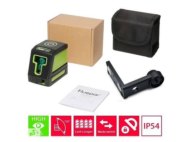 Лазерный уровень нивелир Huepar модель T01G зелен. 2 излучателя OSRAM- объявление о продаже   в Украине