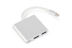 Переходник USB Type-C на HDMI Cablexpert (A-CM-HDMIF-02-SV)