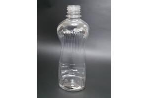 Пластикова пляшка ПЕТ 500 мл, прозора, діаметр горловини 28 мм