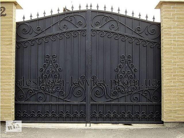 Распашные ворота кованые с калиткой- объявление о продаже  в Виннице