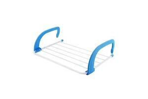 Съемная сушилка для одежды и обуви Fold Clothes Shelf навесная сушка белья Голубая SKL11-276410
