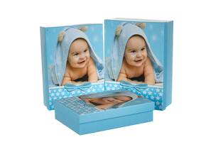 Набір з 3-х подарункових коробок Мій малюк 21х29х9 см 18131-004