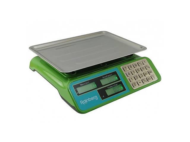 Весы для рынка торговые электронные со стойкой Rainberg RB-303 до 55 кг напольные базарные- объявление о продаже  в Харькове