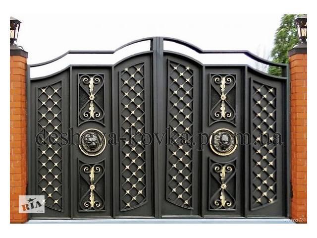 продам Ворота кованые распашные с калиткой бу  в Украине