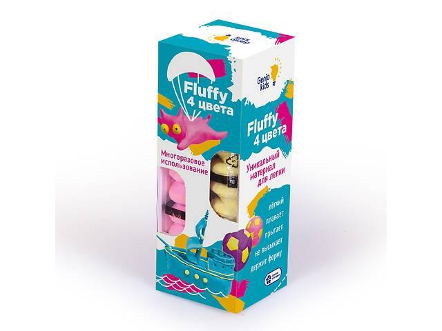 бу Набор воздушногопластилина для детской лепкиFluffy 4 цвета- Genio Kids. Подарок детям от 3 лет в Киеве