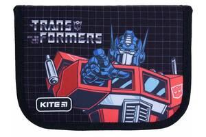 Пенал с наполнением Kite Education Transformers черный